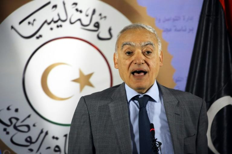 Ghassan Salame, UN special envoy for Libya and head of the UN Support Mission in Libya (UNSMIL), speaks during a press conference at the Prime Minister's office in the capital Tripoli, on September 12, 2018