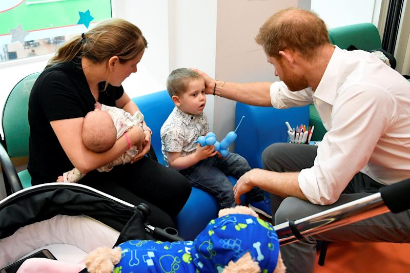 The Duke of Sussex meets families at Oxford Children's Hospital [Photo: PA]