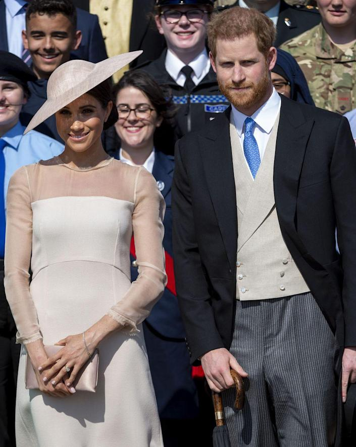 <p>Harry and Meghan make their first official appearance as a married couple. They attended The Prince of Wales' 70th Birthday Patronage Celebration at Buckingham Palace, along with Prince Charles and Camilla.</p>
