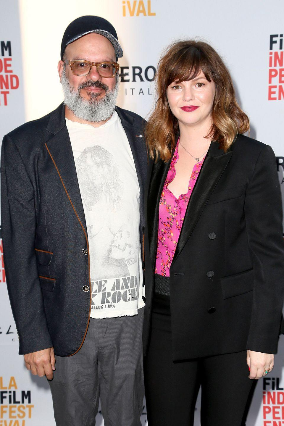 "<p>David Cross and Amber Tamblyn <a href=""https://www.huffingtonpost.com/2012/10/07/david-cross-amber-tamblyn-married_n_1946793.html"" rel=""nofollow noopener"" target=""_blank"" data-ylk=""slk:announced their engagement"" class=""link rapid-noclick-resp"">announced their engagement</a> in August of 2011, and tied the knot the following year. <em>The Sisterhood of the Traveling Pants</em> actress and her actor/comedian husband welcomed daughter Marlow Alice Cross in 2017.</p>"