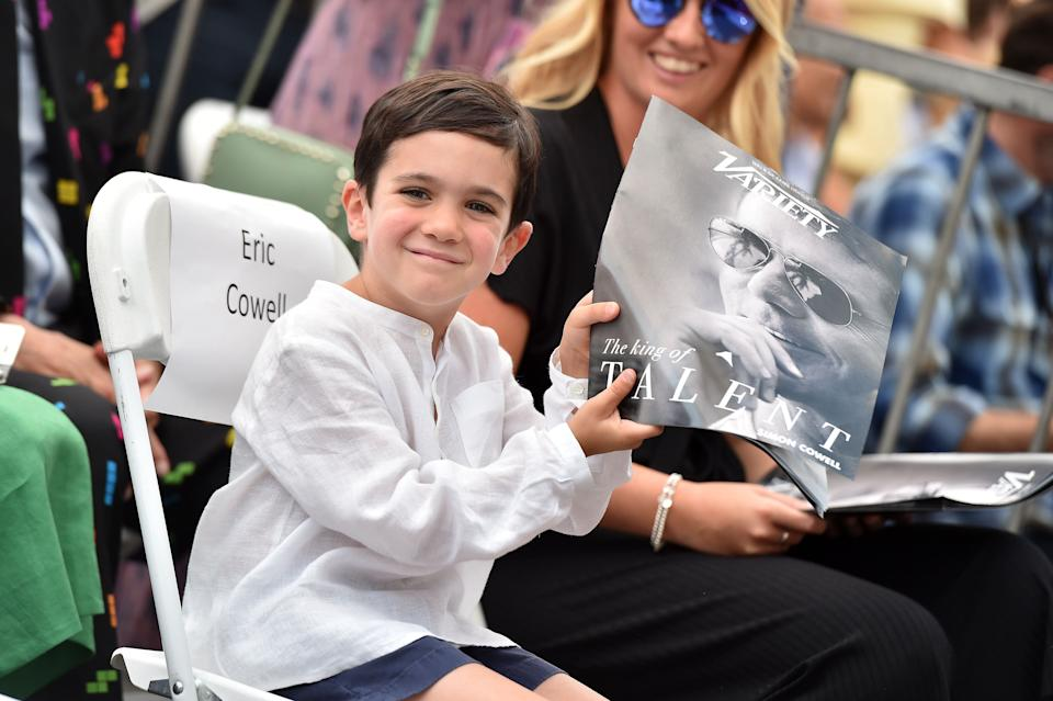 Eric Cowell pictured at his dad's Hollywood Walk of Fame star unveiling in 2018 [Photo: Getty]