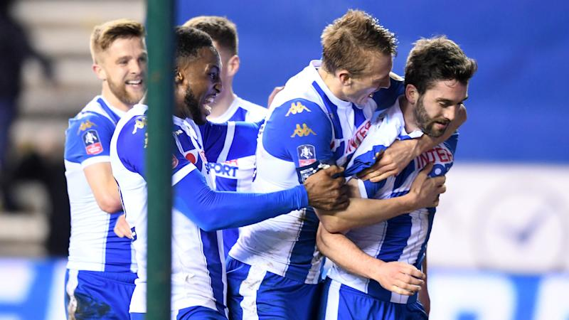 Wigan Athletic celebrate