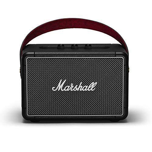 """<p><strong>Marshall</strong></p><p>amazon.com</p><p><strong>$299.99</strong></p><p><a href=""""https://www.amazon.com/dp/B07H7CZ6BZ?tag=syn-yahoo-20&ascsubtag=%5Bartid%7C2139.g.34788908%5Bsrc%7Cyahoo-us"""" rel=""""nofollow noopener"""" target=""""_blank"""" data-ylk=""""slk:BUY IT HERE"""" class=""""link rapid-noclick-resp"""">BUY IT HERE</a></p><p>If you're looking for an outdoor speaker that'll look as good as it sounds, the Marshall Kilburn II Speaker has a cool, retro feel that'll elevate your outdoor settings to an entirely new level. </p><p>Marshall's durable and water-resistant speaker features multi-directional sound with its stereo system. The frequency range goes from 52 to 20,000 Hz and will last for over 20 hours on a single charge (in other words, it's good). And if the battery's running low, there's a quick charge feature that'll give you two hours of playtime after 20 minutes. Of course, we can't ignore the benefits of the fact that it's wireless and portable, too. </p><p>The Kilburn II speaker also has multi-host functionality, which will make it easy to switch between devices (which means whoever wants to be the DJ for the night can do it seamlessly). So, whether you're planning to hit the road for a weekend camping trip with your friends or just want to add the right vibes to your back patio, you won't go wrong here. </p>"""