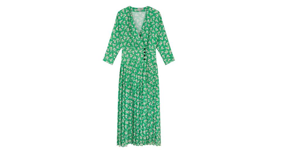 """<p>This ditsy print floral dress is a real showstopper. Get it before it goes. <a rel=""""nofollow noopener"""" href=""""http://asos.com"""" target=""""_blank"""" data-ylk=""""slk:Buy here."""" class=""""link rapid-noclick-resp""""><em>Buy here.</em></a> </p>"""