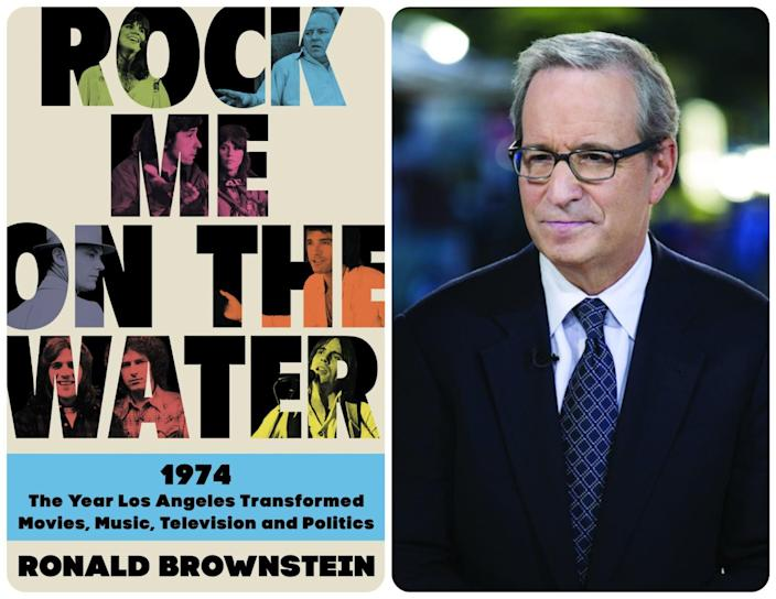 "The cover of ""Rock Me on the Water"" paired with an author photo of Ronald Brownstein."