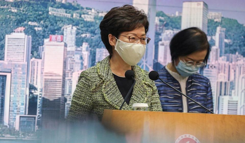 Chief Executive Carrie Lam is travelling to Beijing with five of her ministers to push for policies that will aid Hong Kong's economic recovery. Photo: Nora Tam