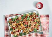 """<p><strong>Recipe: </strong><a href=""""https://www.southernliving.com/recipes/grilled-salmon-panzanella-salad"""" rel=""""nofollow noopener"""" target=""""_blank"""" data-ylk=""""slk:Grilled Salmon Panzanella Salad"""" class=""""link rapid-noclick-resp""""><strong>Grilled Salmon Panzanella Salad</strong></a><a href=""""https://www.southernliving.com/recipes/grilled-salmon-panzanella-salad"""" rel=""""nofollow noopener"""" target=""""_blank"""" data-ylk=""""slk:"""" class=""""link rapid-noclick-resp""""><br></a>You need just five ingredients for this pretty dinner that will impress the neighbors.</p>"""