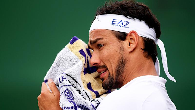 Italy's Fabio Fognini let fly with a massive tirade during his third-round loss at Wimbledon. (Photo by Laurence Griffiths/Getty Images)
