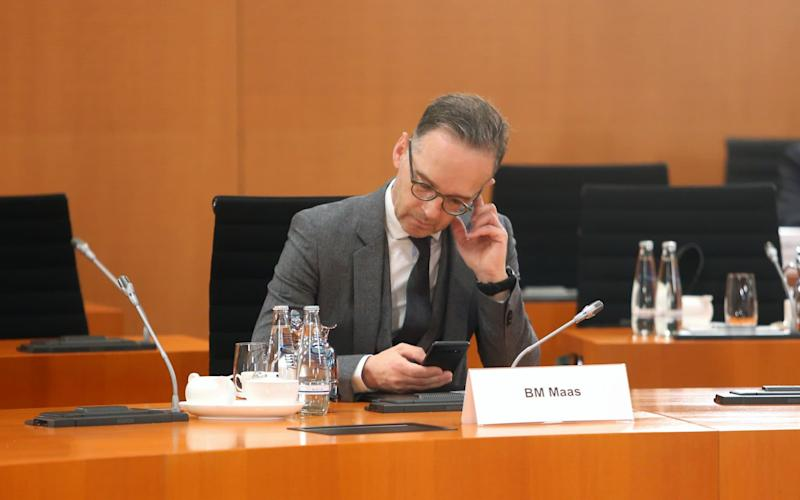 "Heiko Maas said Britain's position was ""simply not on"" - GETTY IMAGES"