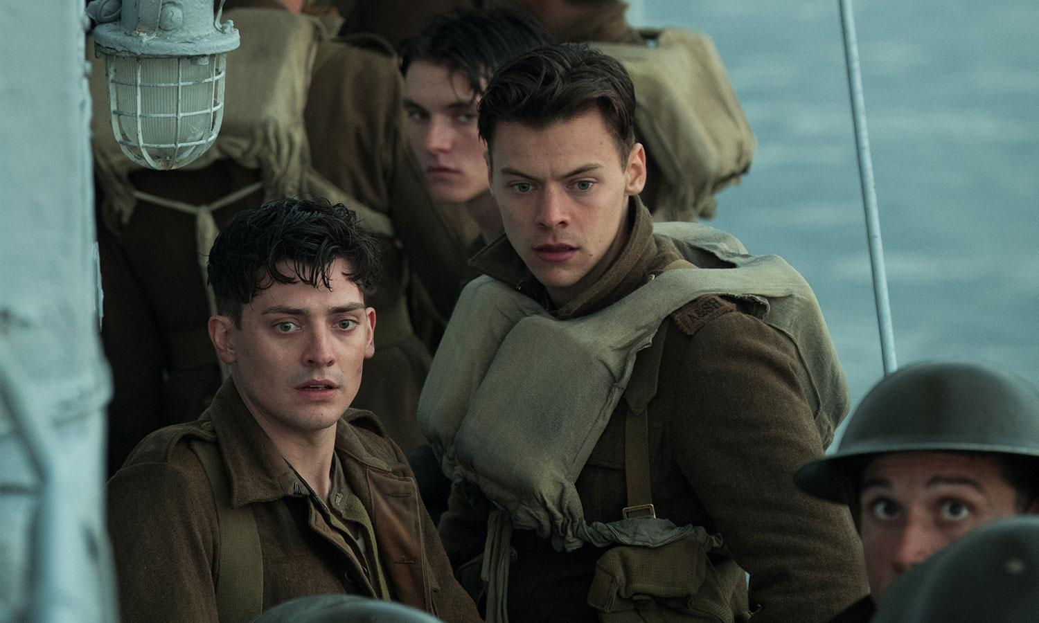 dunkirk harry styles reveals chris nolan s one styling tip video behind the scenes of dunkirk harry styles reveals chris nolan s one styling tip in exclusive video