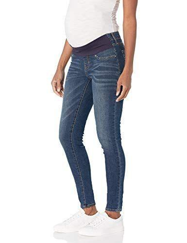 """<p><strong>Signature by Levi Strauss & Co. Gold Label</strong></p><p>amazon.com</p><p><strong>$29.64</strong></p><p><a href=""""https://www.amazon.com/dp/B07JXNXL8P?tag=syn-yahoo-20&ascsubtag=%5Bartid%7C10055.g.34498315%5Bsrc%7Cyahoo-us"""" rel=""""nofollow noopener"""" target=""""_blank"""" data-ylk=""""slk:Shop Now"""" class=""""link rapid-noclick-resp"""">Shop Now</a></p><p>Whether you're in the first or second trimester or just have a smaller bump size, <strong>these jeans have less elastic than others to help fit well without feeling too loose. </strong>They're also Amazon's bestseller for maternity jeans with rave reviews from users who say it's the only pair they've found that can stay up. The jeans use a cotton blend denim that feels stretchy around legs so you can comfortably wear them all day.</p>"""