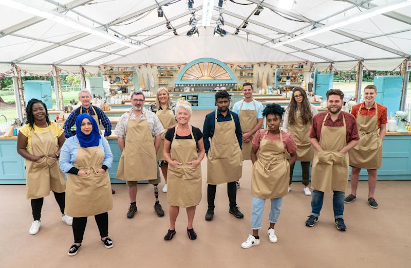 'GBBO' contestants Hermine, Sura, Rowan, Marc, Laura, Linda, Mak, Dave, Loriea, Lottie, Mark and Peter. (Channel 4/Love Productions)