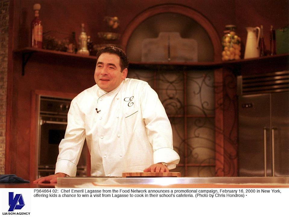 """<p>When your motto is """"Kick it up a notch,"""" your show better do the same. <em>Emeril Live </em>was so much better than his other shows (in our opinion!), because it was less stand-and-stir and more of an interactive talk show, with <a href=""""https://www.delish.com/cooking/videos/a57020/celebrity-snackdown-teresa-giudice-vs-emeril-lagasse-marinara-video/"""" rel=""""nofollow noopener"""" target=""""_blank"""" data-ylk=""""slk:Emeril Lagasse"""" class=""""link rapid-noclick-resp"""">Emeril Lagasse</a> inviting well-known chefs and famous celebrities on to create classic Creole and Cajun dishes.</p>"""