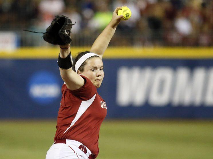 Butera tries catching for OU softball pitcher - Moose ends up catching Butera