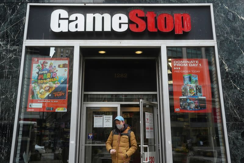 A GameStop is pictured in New York