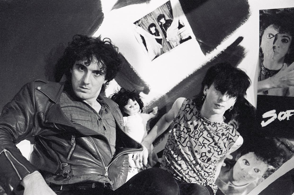 Soft Cell's David Bal  and Marc Almond in 1983. (Photo: Steve Rapport/Getty Images)
