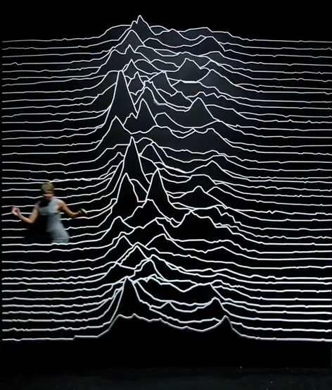 a 3D recreation of Joy Division's 'Unknown Pleasures'
