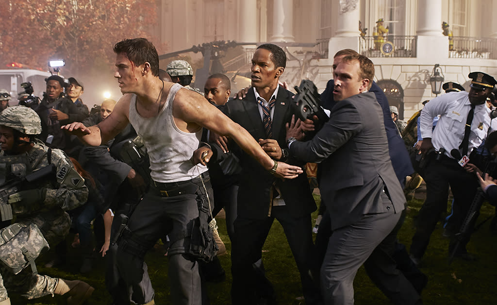 """Channing Tatum and Jamie Foxx in Columbia Pictures' """"White House Down"""" - 2013"""