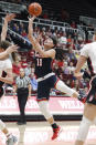 Gonzaga's Kayleigh Truong shoots against Stanford during the first half of an NCAA college basketball game Sunday, Nov. 17, 2019, in Stanford, Calif. (AP Photo/George Nikitin)
