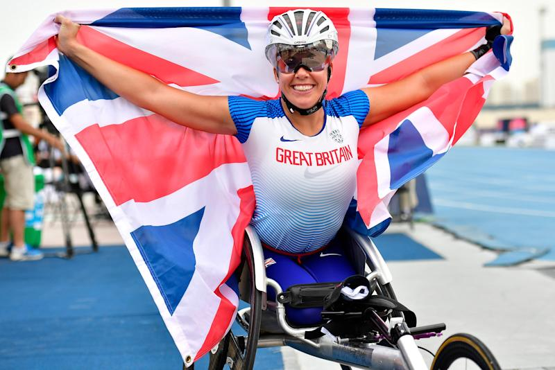Hannah Cockroft claimed T34 100m gold at the World Para Athletics Championships
