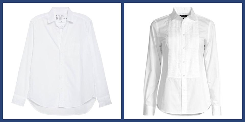 """<p>The <a href=""""https://www.townandcountrymag.com/style/fashion-trends/a28676205/how-to-wear-white-button-down-shirt/"""" rel=""""nofollow noopener"""" target=""""_blank"""" data-ylk=""""slk:white button down shirt is the workhorse of any wardrobe"""" class=""""link rapid-noclick-resp"""">white button down shirt is the workhorse of any wardrobe</a>: dress it up with slacks for the office or an elegant skirt for a night on the town, dress it down for PTA meetings, errands, or weekend brunch—and nowadays, with Zoom meetings more prominent than ever, they're the perfect way to upgrade your standard <a href=""""https://www.townandcountrymag.com/style/fashion-trends/g35352575/the-weekly-covet-january-29-2021/"""" rel=""""nofollow noopener"""" target=""""_blank"""" data-ylk=""""slk:loungepants to workwear"""" class=""""link rapid-noclick-resp"""">loungepants to workwear </a>in seconds. No matter how you wear it, a white button down adds instant <em>savoir faire</em> to any look, which makes having a great one (or two, or ten) in your closet a fashion essential. </p><p>Still searching for the perfect style? Worry not, we've rounded up the very best white shirts around to give all your favorite looks a boost. </p>"""