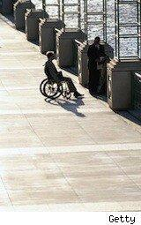 Guy in a wheelchair - disability insurance