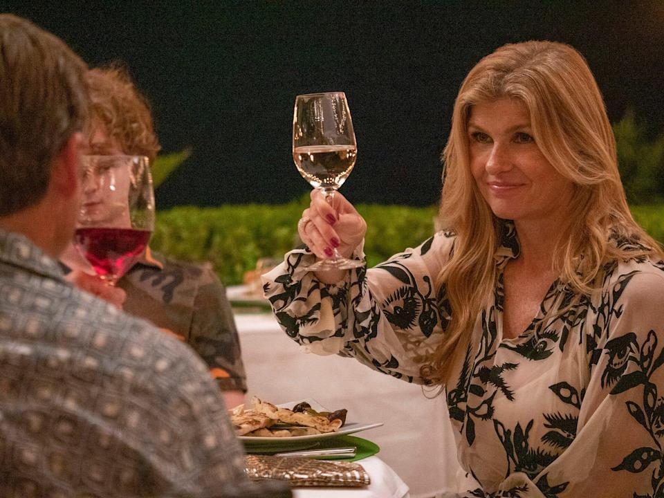 """Connie Britton in """"The White Lotus"""" on HBO."""