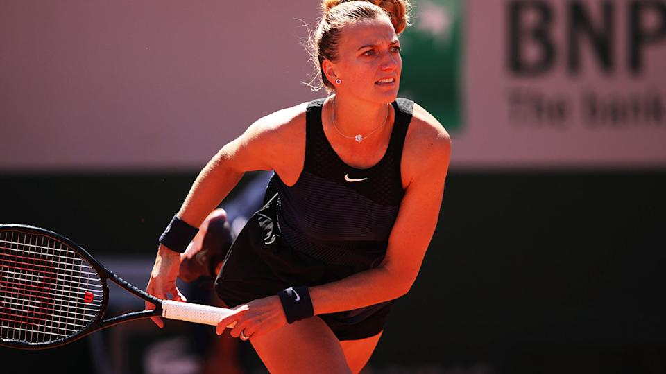 Petra Kvitova, pictured here in action against Greet Minnen at the French Open.