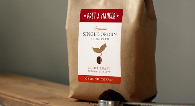 You can now order Pret coffee beans online. (Pret A Manger)
