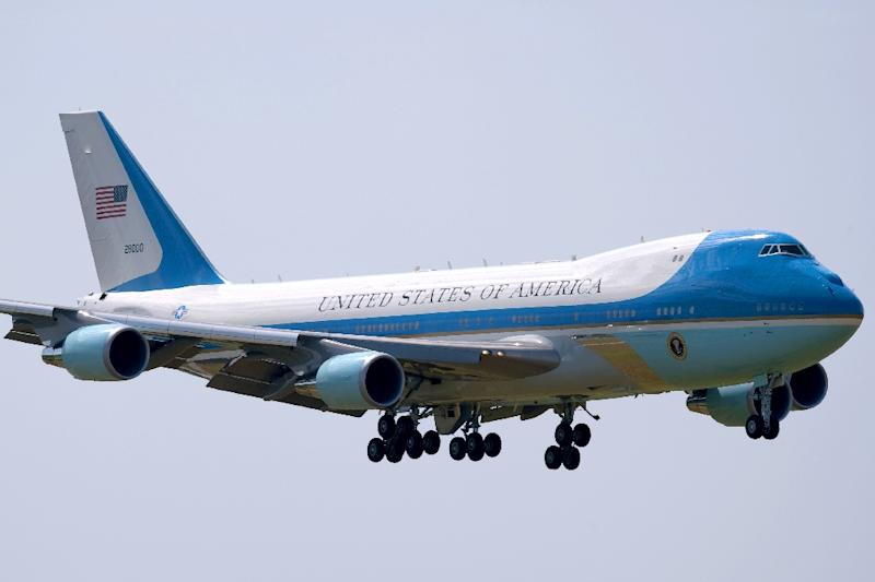 US presidents have used a specially-outfitted Boeing 747 as Air Force One since 1990 (AFP Photo/NICOLAS ASFOURI)
