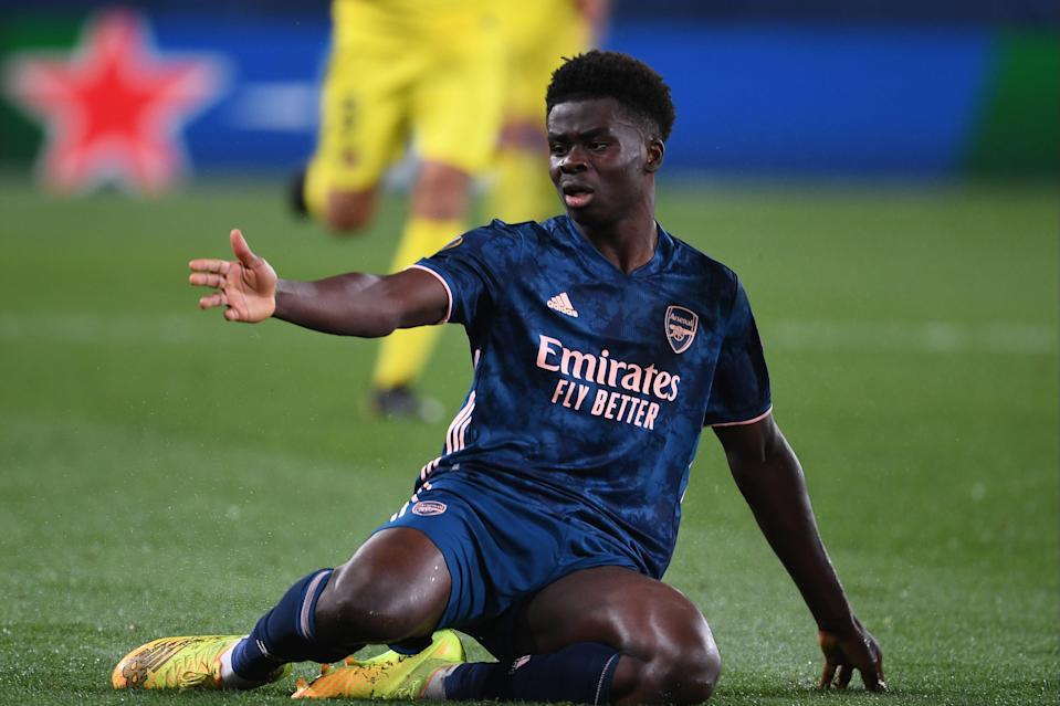 """<p>Saka: """"We lost every duel, we were passive""""</p> (Arsenal FC via Getty Images)"""