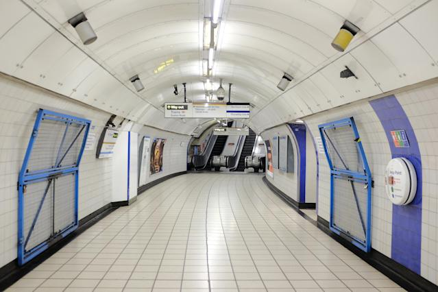 TfL reported falling usage after the government urged people to avoid non-essential travel. (PA)