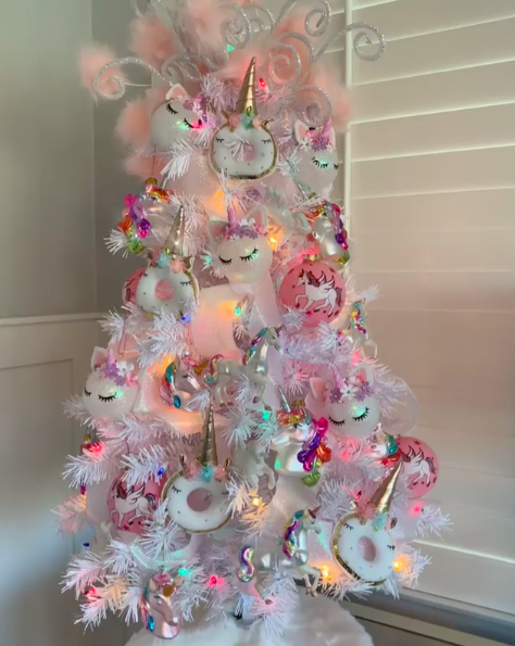 Another adorable unicorn Christmas tree. Photo: Instagram/corrie9.