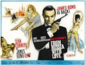 The second 007 film was based on the best Fleming book, and remains a high point of espionage cinema. Spectre agents Red Grant and Rosa Klebb faced off with the effortlessly cool Sean Connery for a timeless adventure. (Eon/MGM)