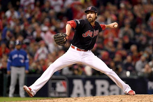 "<a class=""link rapid-noclick-resp"" href=""/mlb/players/7847/"" data-ylk=""slk:Andrew Miller"">Andrew Miller</a> has been nearly un-hittable over the past three seasons. (Photo by Jason Miller/Getty Images)"