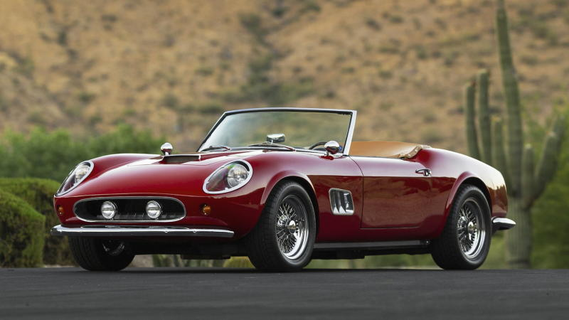 1963 Modena GT Spyder California, the hero car from 1986 film Ferris Bueller's Day Off. (Source: Mecum Auctions)
