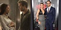 <p><strong>The movie: </strong><em>Green Lantern</em> (2011)</p><p>The two A-Listers met on the set of the <em>Green Lantern</em> in 2010 when Ryan was still married to Scarlett Johansson. They were divorced by 2011 before Blake and Ryan brought their relationship public. They married in 2012 and have two kids.</p>