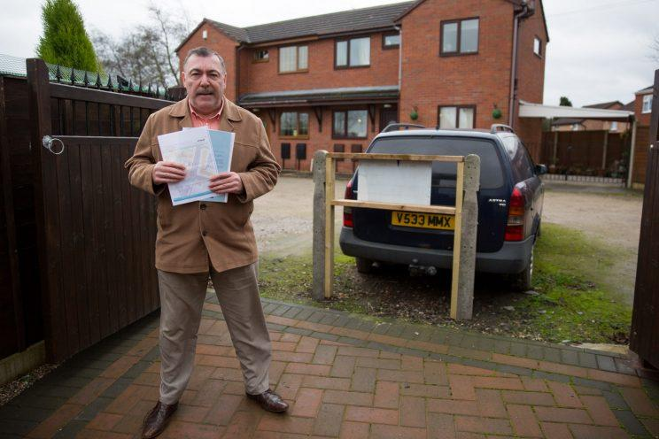 Blocked: Nigel Serrell found his car had been blocked after coming home from work (SWNS)