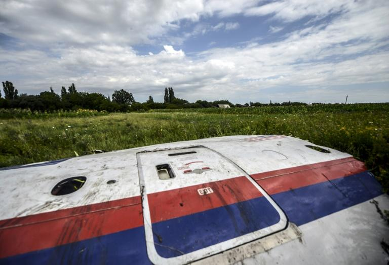 A piece of wreckage from Malaysia Airlines Flight MH17 in Ukraine's Donetsk region on July 20, 2014