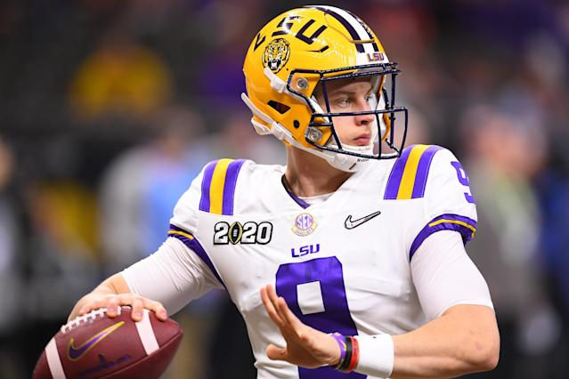 Joe Burrow could be the No. 1 overall draft pick. (Photo by Jamie Schwaberow/Getty Images)