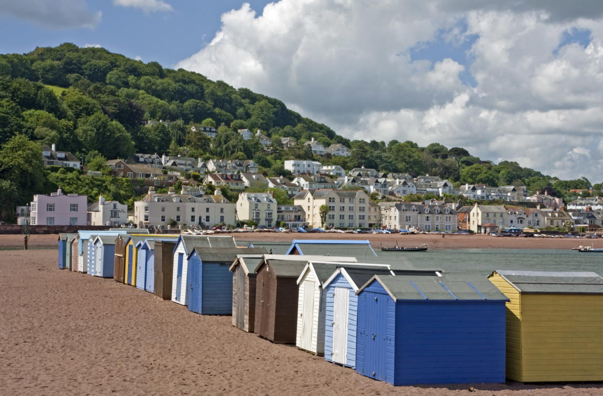 Some of the more typical looking 'beach huts' in Teignmouth. (Getty Images)
