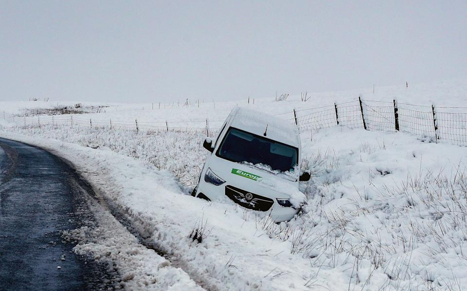 Snow caused treacherous driving conditions in North Yorkshire - PA