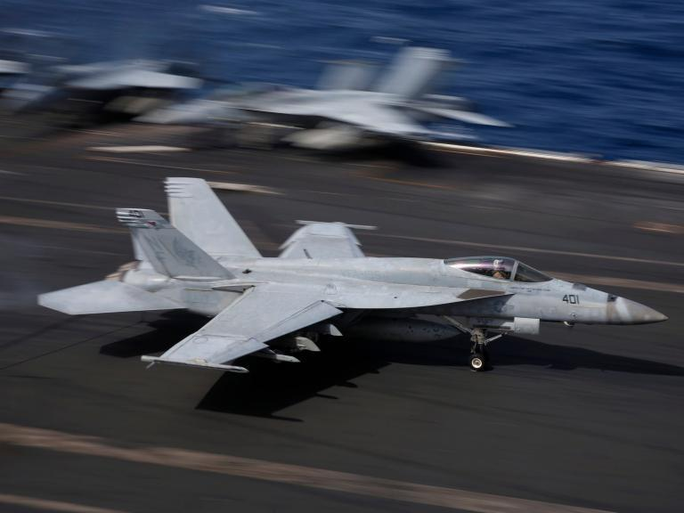 F-18 jet and tanker crash in mid-air during refuelling near Japan