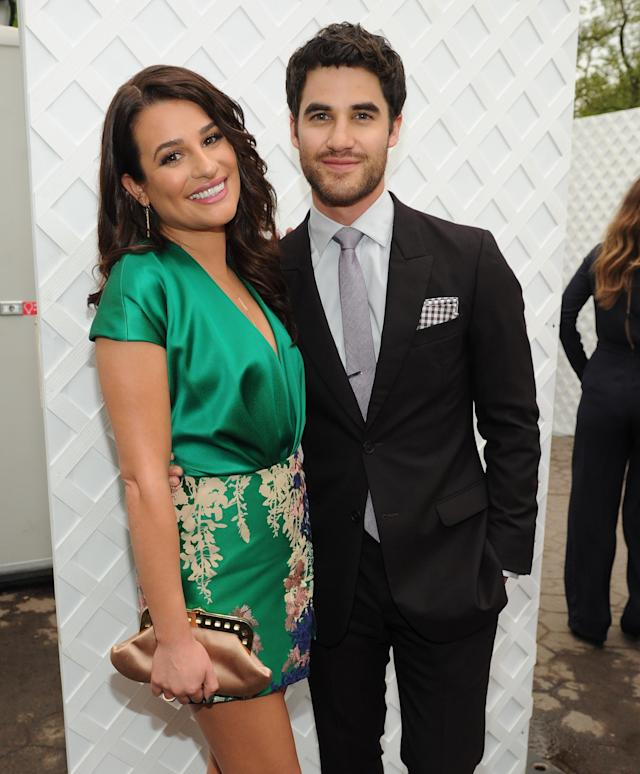 Lea Michele and Darren Criss. (Photo: Getty Images)