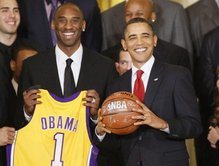 Kobe Bryant attended the White House under President Barack Obama in 2009 and 2010. (AP)
