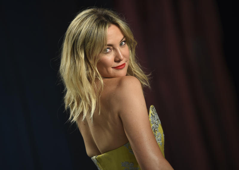 Kate Hudson arrives at the Vanity Fair Oscar Party on Sunday, Feb. 9, 2020, in Beverly Hills, Calif. (Photo by Evan Agostini/Invision/AP)