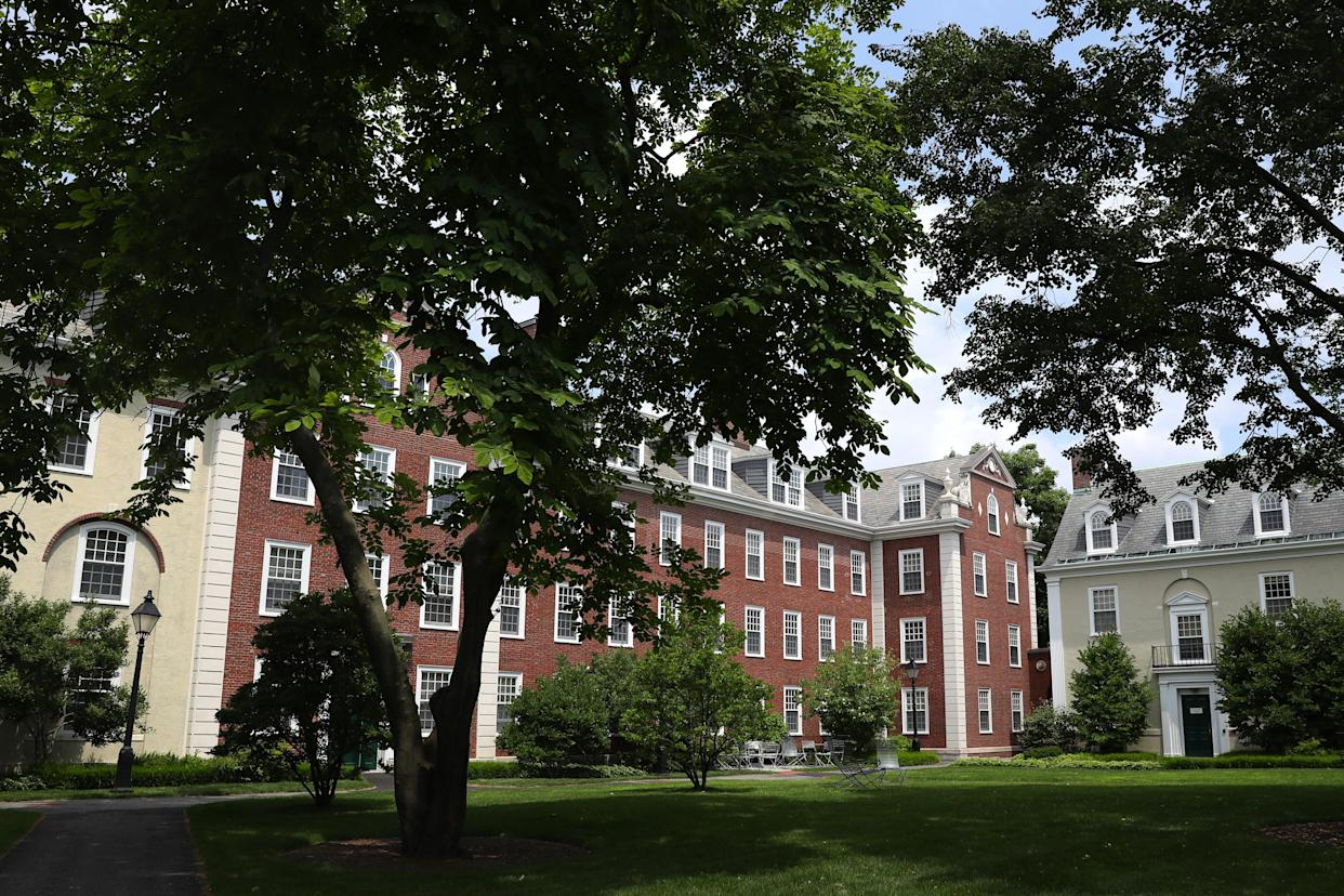 Harvard Business School has temporarily shifted to remote learning after an increase in breakthrough COVID-19 cases among its students. (Maddie Meyer/Getty Images)