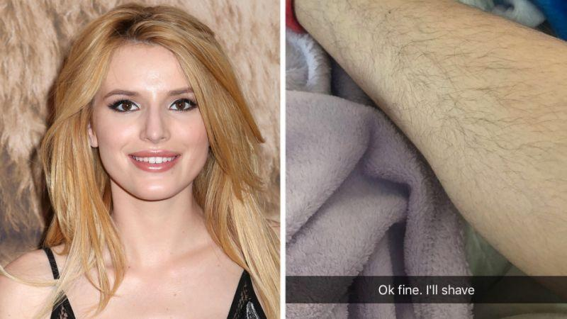 Bella Thorne is another young star who is in favor of body hair. (Photo: PA/Snapchat)
