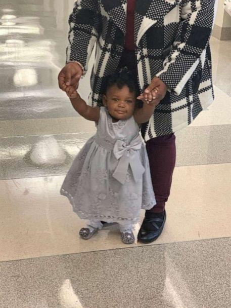 PHOTO: Michaela, 1, was adopted on October 17, 2019, inside Judge Lisa Rodwin's courtroom. (Shantela Woods)