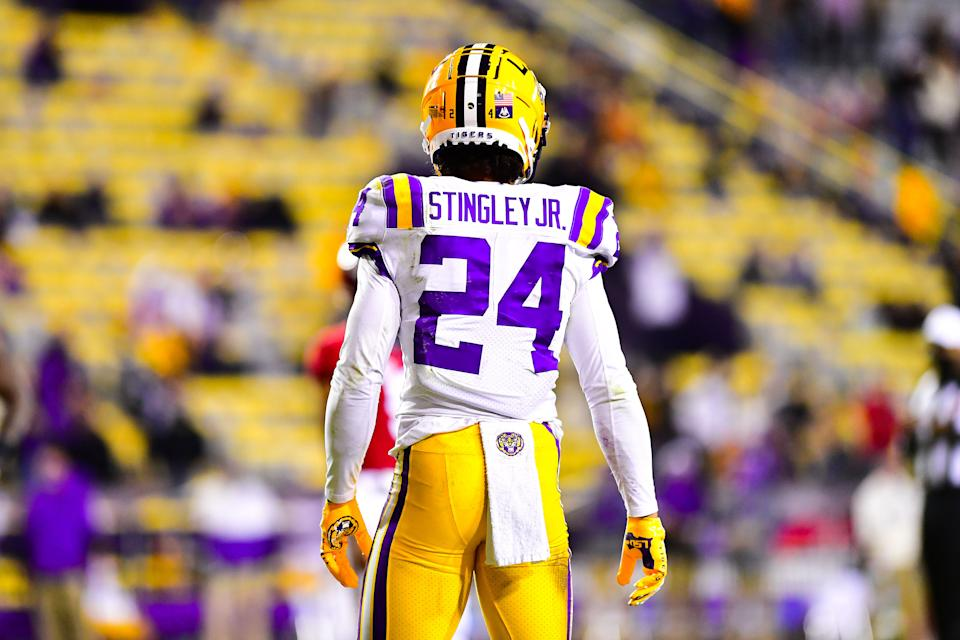 After an injury-plagued season in 2020, LSU cornerback Derek Stingley Jr. could be ready to reprise his freshman-year magic in 2021. (Photo by Brandon Gallego/Collegiate Images/Getty Images)